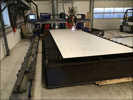 Messer CNC plasma cutting machine